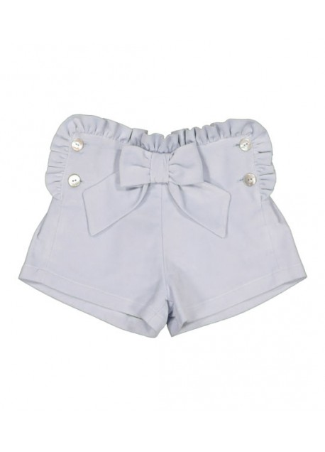 Short velours à noeud