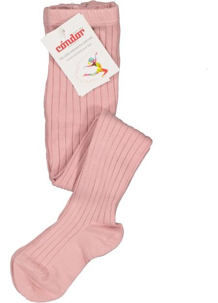 Collants côtelés rose pâle Cóndor